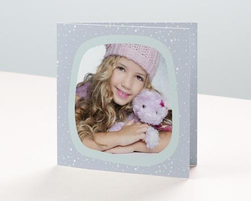Carte de vœux particulier - Flocons de neige