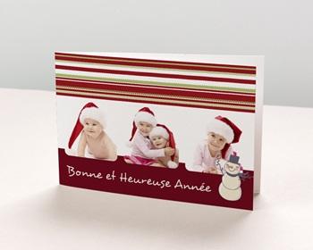 Carte de vœux particulier - Multi-photos - 1