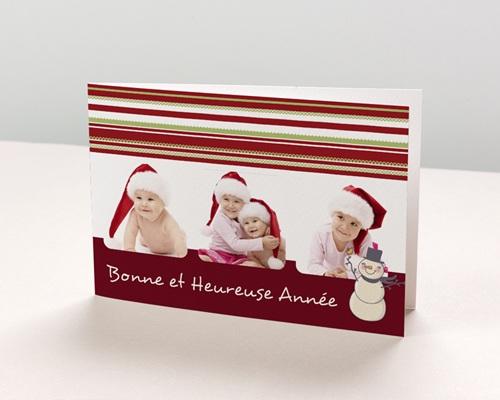 Carte de vœux particulier - Plusieurs photos