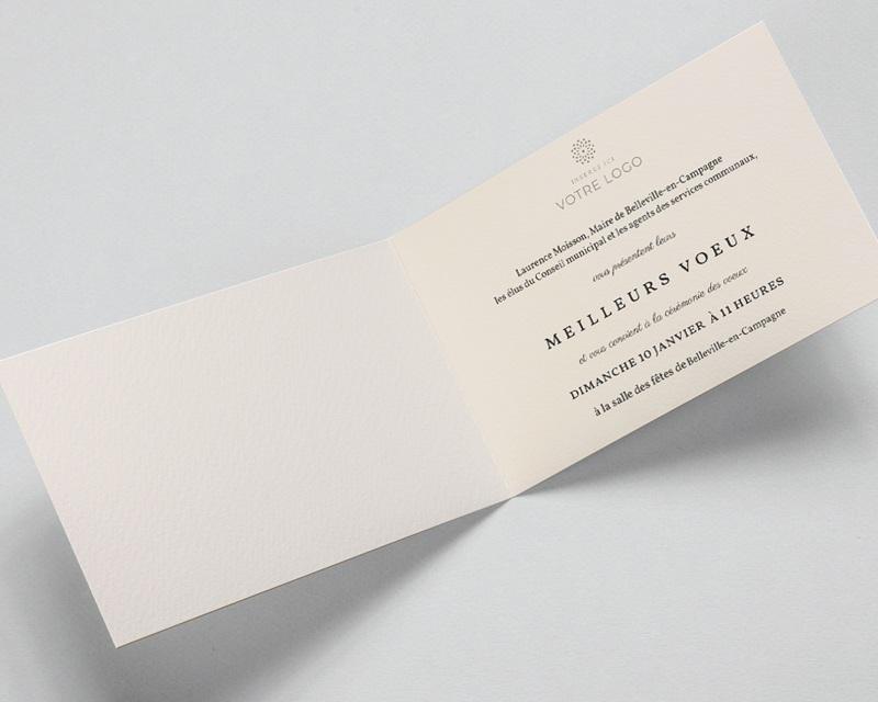 Carte de Voeux Entreprise Boules sapin de noel colorées pas cher