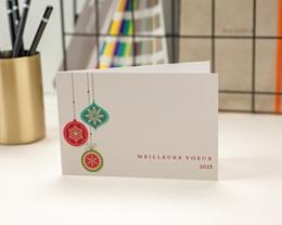 Carte de Voeux Entreprise Boules sapin de noel colorées gratuit