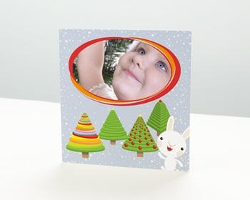 Carte de vœux particulier - Ronde de sapins - 1