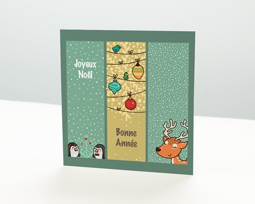 Carte de vœux particulier - Esprit BD de Noel