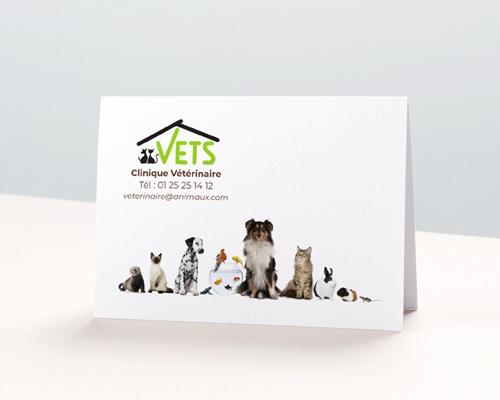 Calendrier avec logo d'entreprise Vétérinaire