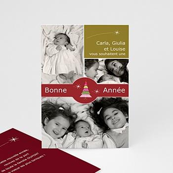 Carte de vœux particulier - Tendance et Unique - 1