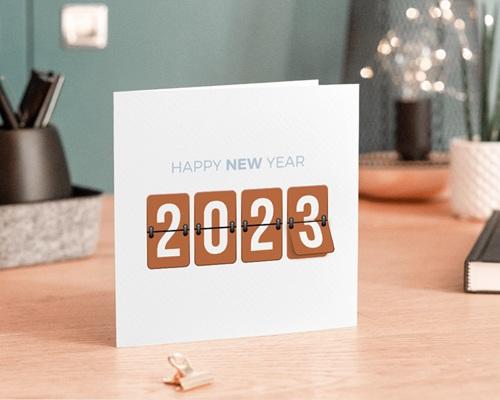 Carte de Voeux Entreprise Compteur Nouvel An gratuit