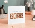 Carte de voeux entreprise - Compteur Nouvel An