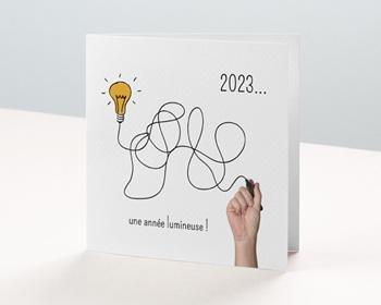 Carte de Voeux Entreprise Une année lumineuse personnalisable
