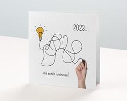 Carte de Voeux Entreprise Une année lumineuse