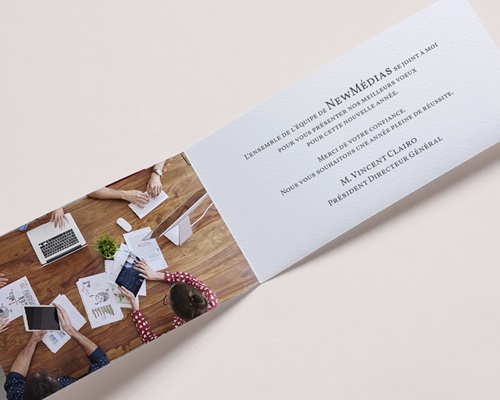 Carte de Voeux Entreprise Stay Connected pas cher