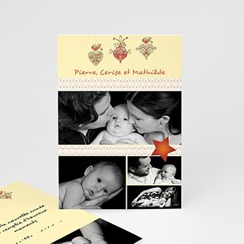 Carte de vœux particulier - Boules de Noel - 1