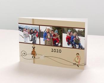 Carte de vœux particulier - Famille - 1