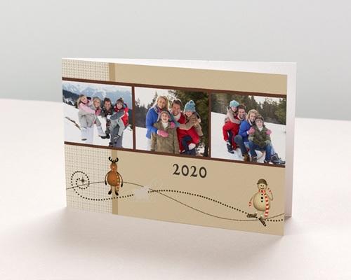 Carte de vœux particulier - Un souhait pour noël