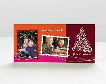 Carte de vœux particulier - Timbre postal de Voeux - 1