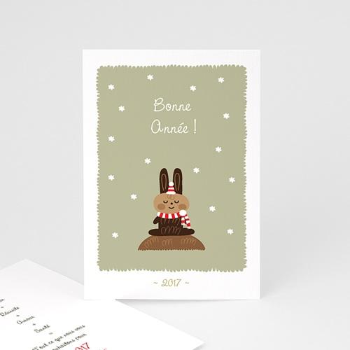 Carte de vœux particulier - Lapinou de Noël
