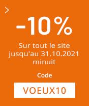 10% sur tout le site avant le 31.10.21
